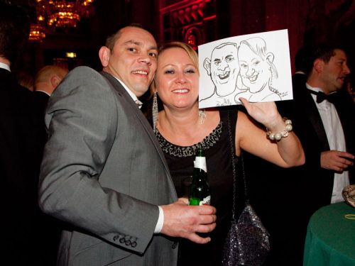 Caricaturist Couple